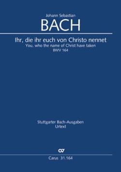 Cantate BWV 164 - Conducteur - BACH - Partition - laflutedepan.com