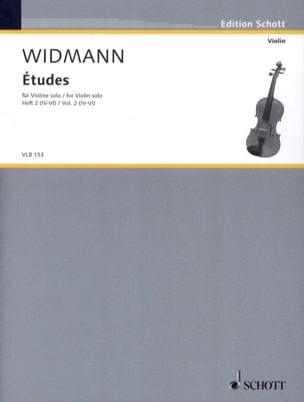 Etudes - Volume 2 4-6 Joerg Widmann Partition Violon - laflutedepan