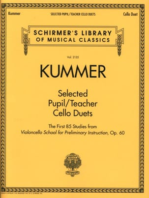 Friedrich August Kummer - Selected Pupil / Teacher Cello Duets - Sheet Music - di-arezzo.com