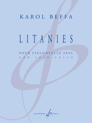 Karol Beffa - Letanías - Solo violonchelo - Partitura - di-arezzo.es