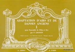 Adaptation airs danses anciens - Volume 1 - laflutedepan.com