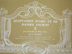 Adaptation airs danses anciens - Volume 3 F. Ligistin laflutedepan