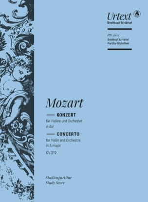 Concerto pour Violon, K. 219 - Conducteur - laflutedepan.com