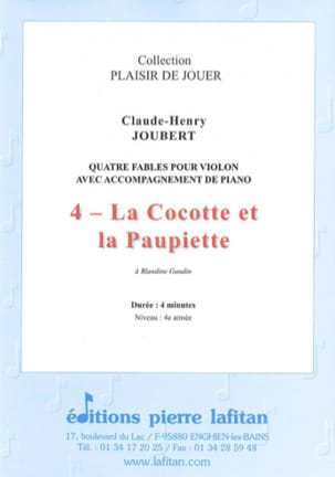 Claude-Henry Joubert - the Cocotte and the Paupiette - Sheet Music - di-arezzo.co.uk