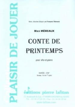 Conte de Printemps Max Méreaux Partition Alto - laflutedepan