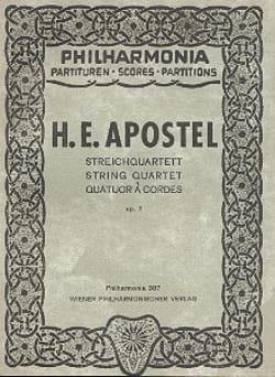 Hans Erich Apostel - Streichquartett op. 7 - Partitur - Partitura - di-arezzo.es