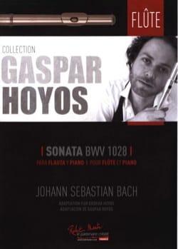 BACH - Sonate BWV 1028 - Flûte et Piano - Partition - di-arezzo.fr