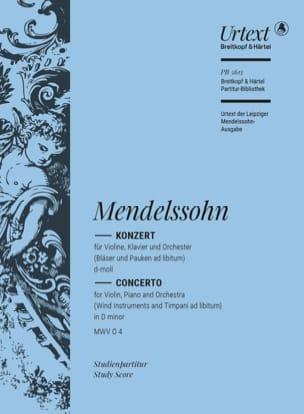 Concerto pour Violon, Piano et Orch. - Conducteur laflutedepan