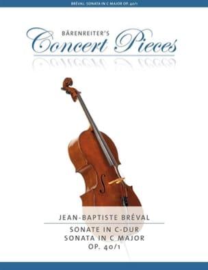 Jean-Baptiste Bréval - Sonate en Do Majeur, op. 40 n° 1 - Partition - di-arezzo.fr