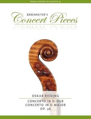 Oskar Rieding - Concerto in D Major, op. 36 - Sheet Music - di-arezzo.co.uk
