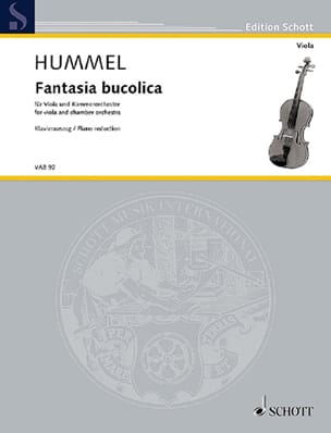 Fantasia Bucolica HUMMEL Partition Alto - laflutedepan