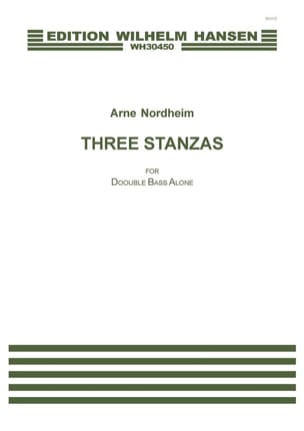 Arne Nordheim - Three Stanzas - Double Bass Solo - Sheet Music - di-arezzo.co.uk