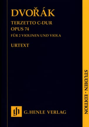 Terzetto, op. 74 - Conducteur DVORAK Partition laflutedepan