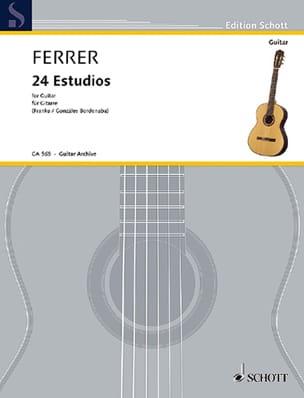José Ferrer - 24 Estudios - Guitar - Sheet Music - di-arezzo.co.uk