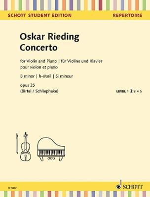 Oscar Rieding - Concerto, Opus 35 - Violin and Piano - Sheet Music - di-arezzo.co.uk