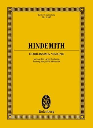 Paul Hindemith - Nobilissima Visione - Conducteur - Partition - di-arezzo.fr