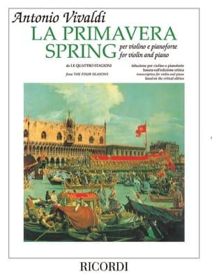 VIVALDI - Spring - Violin and Piano - Sheet Music - di-arezzo.co.uk