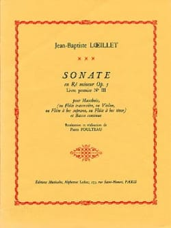 Sonate en ré mineur op. 5 Jean-Baptiste Loeillet laflutedepan