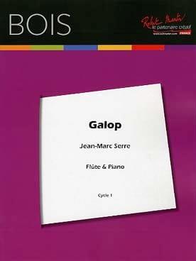 Galop - Flûte et Piano Jean-Marc Serre Partition laflutedepan