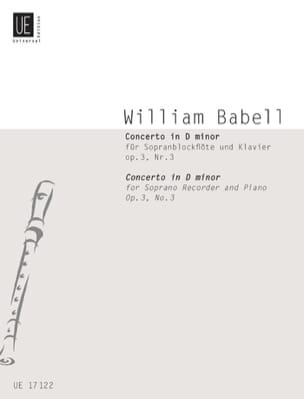 Concerto in D minor, op. 3 n° 3 William Babell Partition laflutedepan