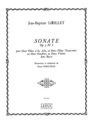 Sonate op. 5 n° 1 LOEILLET Partition Flûte à bec - laflutedepan