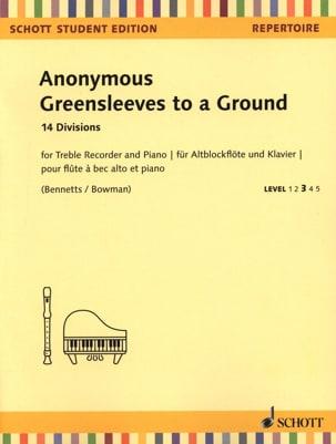 Greensleeves to a Ground - Flûte à Bec alto et Piano - laflutedepan.com