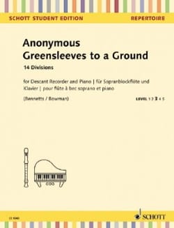 Anonyme - Greensleeves to a Ground - Fl. à Bec Soprano et Piano - Partition - di-arezzo.fr