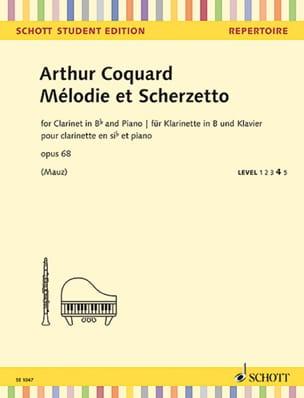 Arthur Coquard - Mélodie et Scherzetto - Clarinette et Piano - Partition - di-arezzo.fr