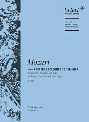 Vesperae Solennes de Dominica, K. 321 - Conducteur - laflutedepan.com