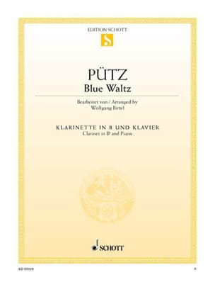 Eduard Pütz - Blue Waltz - Clarinette et Piano - Partition - di-arezzo.fr
