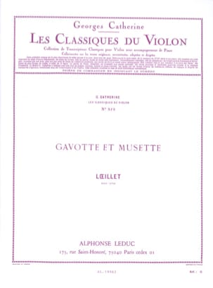 Loeillet Jean-Baptiste / Catherine Georges - Gavotte and musette - Sheet Music - di-arezzo.co.uk