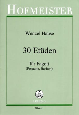 Wenzel Hause - 30 estudios - Fagot - Partitura - di-arezzo.es