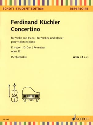 Ferdinand Küchler - Concertino, op. 12 - Violin and Piano - Sheet Music - di-arezzo.co.uk