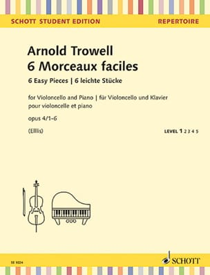 Arnold Trowell - 6 Easy Pieces, op. 4 - Cello and Piano - Sheet Music - di-arezzo.co.uk