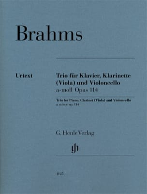 BRAHMS - Trio in A minor, op. 114 - Clarinet or Viola, Cello and Piano - Sheet Music - di-arezzo.com