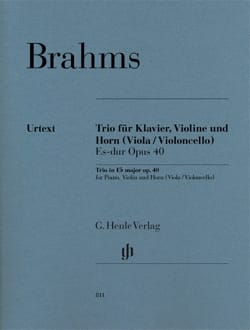 BRAHMS - Trio en Mib M., op. 40 - Cor, Violon et Piano - Partition - di-arezzo.fr
