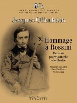 Jacques Offenbach - Tribute to Rossini - Cello and Piano - Sheet Music - di-arezzo.co.uk