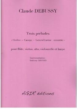DEBUSSY - Three preludes - Sheet Music - di-arezzo.com