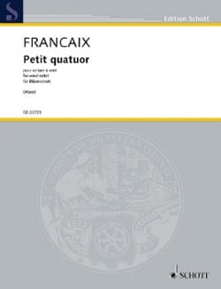 Jean Françaix - Small Quartet - Wind Octuor - Sheet Music - di-arezzo.co.uk