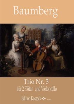 J. C. Baumberg - Trio n° 3 - 2 Flûtes et Violoncelle - Partition - di-arezzo.fr