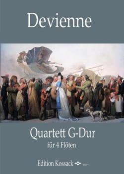 Francois Devienne - Quatuor en Sol Majeur - 4 Flûtes - Partition - di-arezzo.fr