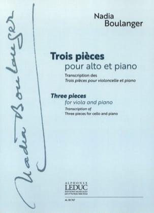 Nadia Boulanger - Trois Pièces - Alto et Piano - Partition - di-arezzo.fr