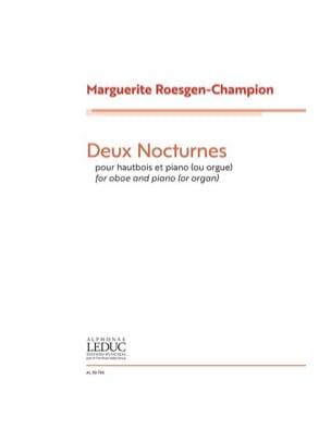 Marguerite Roesgen-Champion - 2 Nocturnes - Oboe and Piano - Sheet Music - di-arezzo.com