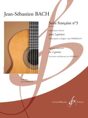 BACH - Suite Française n° 3 - 2 Guitares - Partition - di-arezzo.fr