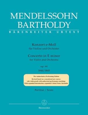 Bartholdy Felix Mendelssohn - Concerto pour Violon, op. 64 - Conducteur - Partition - di-arezzo.fr
