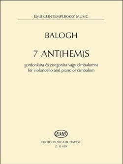 Mate Balogh - 7 Anthems - Cello and Piano - Sheet Music - di-arezzo.co.uk