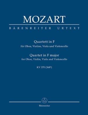 MOZART - Quartett für Oboe, Violine, Viola und Violoncello. F-Dur KV 370 - Partition - di-arezzo.fr