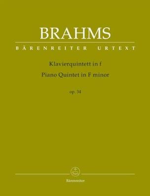 Johannes Brahms - Quintette en fa mineur, op. 34 - Partition - di-arezzo.fr