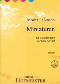 Miniatures - Clarinette Basse Moritz Lassmann Partition laflutedepan
