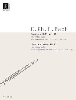 Carl Philipp Emanuel Bach - Sonata in A minor Wq 132 - Sheet Music - di-arezzo.co.uk
